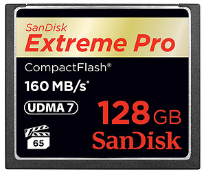 Karta pamięci SanDisk CompactFlash Extreme PRO 128GB (160MB/s)