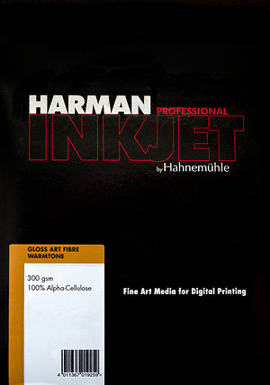 Papier HARMAN by Hahnemühle Gloss Art Fibre Warmtone G300
