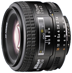 Obiektyw Nikkor AF 50mm f/1,4D + MARUMI UV Fit-Slim MC 52mm GRATIS!