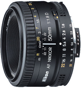 Obiektyw Nikkor AF 50mm f/1,8D + MARUMI UV Fit-Slim MC 52mm GRATIS!