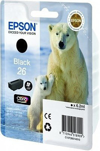 Epson tusz T2601 BLACK 6.2ml do XP-600/700/800