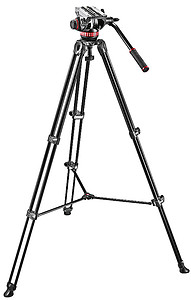 Statyw wideo Manfrotto Twin Telescopic 502AM + głowica video PRO 502A + futerał