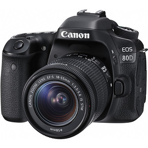 Canon EOS 80D + Canon EF-S 18-55mm f/3,5-5,6 IS + cashback 430zł