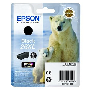 Epson tusz T2621 BLACK 12,1ml (XL) do XP-600/700/800