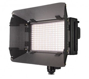 Lishuai lampa diodowa LED-312AS BiColor LCD + Akcesoria