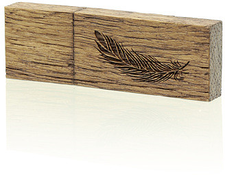 Pendrive Luxury Wood 8 GB USB 3.0 (Piórko)