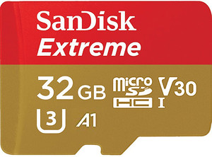 Karta pamięci SanDisk microSDHC Extreme 32 GB (100MB/s) V30 A1+ adapter SD